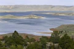 Seminoe Reservoir in Wyoming Stock Photo