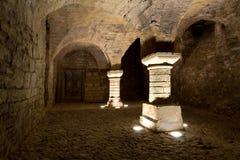 Seminterrato del castello Fotografie Stock