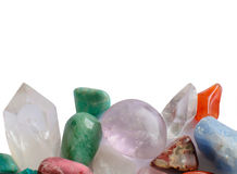 Semiprecious gemstones Stock Images