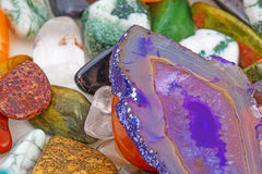 Semiprecious natural stones Stock Images