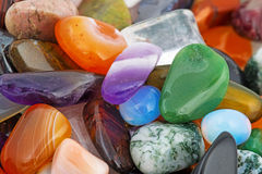 Semiprecious natural stones Stock Image