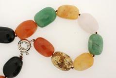 semiprecious sten för färgrikt halsband Arkivbilder