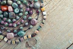 Semiprecious stone beads Royalty Free Stock Photography