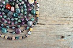 Semiprecious stone beads Royalty Free Stock Images