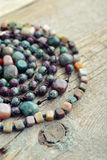 Semiprecious stone beads Stock Photo