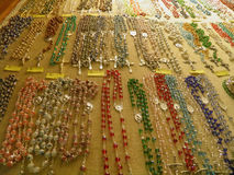 Semiprecious stone necklaces Royalty Free Stock Images