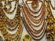 Semiprecious stone necklaces Stock Photo