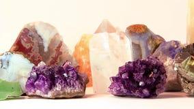 Semiprecious stones stock footage