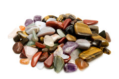 Semiprecious stones. On a white background Royalty Free Stock Photography
