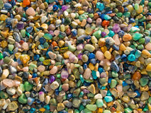 Semiprecious stones background Royalty Free Stock Photos