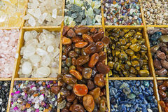 Semiprecious stones background Royalty Free Stock Images