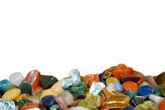 Semiprecious stones polished on isolated. Royalty Free Stock Photography