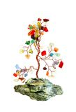 Semiprecious stones tree isolated on white Stock Photos