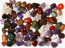 Semiprecious stones on white background Stock Photography