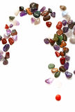 Semiprecious stones on white background Stock Images