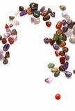 Semiprecious stones on white background Stock Images
