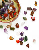 Semiprecious stones on white background Stock Photos