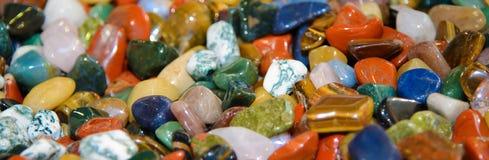 Semiprezioso delle pietre lucidato Immagini Stock Libere da Diritti