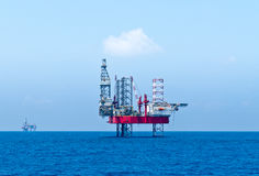 Semisubmersible drilling rigs. In egyptian offshore concession area-southern Mediterranean Stock Photography
