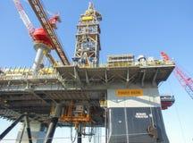 Semisubmersible Ensco 8506. Semisubmersible drilling rig Ensco 8506 Stock Photo