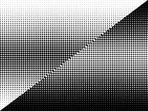 Semitono in bianco e nero astratto dei cerchi illustrazione di stock