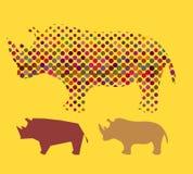 Semitono del rinoceronte Fotografie Stock