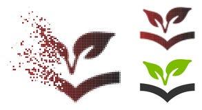 Semitono disperso Flora Knowledge Icon del pixel illustrazione vettoriale