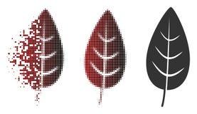 Semitono disperso Flora Leaf Icon di Pixelated royalty illustrazione gratis