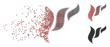 Semitono fratturato Flora Abstraction Icon del pixel Fotografie Stock Libere da Diritti