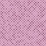 Semitono macchiato geometrico senza cuciture del modello con le stelle o l'incrocio Illustrazione di vettore Fotografia Stock