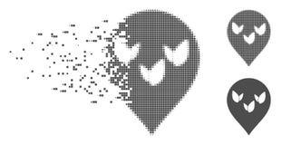 Semitono rotto Flora Field Marker Icon del pixel Fotografia Stock Libera da Diritti