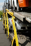 Semitrailer. Road transport. Royalty Free Stock Images
