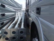 Tight parking. Semitrailer tight parking Royalty Free Stock Image
