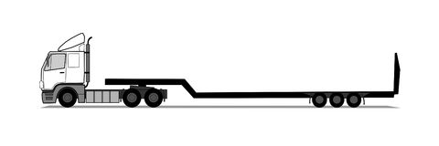 Semitrailer truck. A vector illustration of semitrailer truck Stock Image