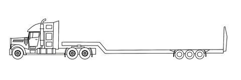 Semitrailer truck Stock Photos