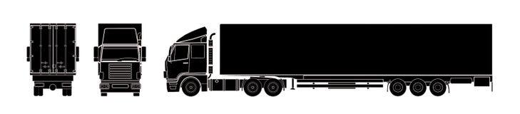 Semitrailer truck. A illustration of semitrailer truck Stock Photos