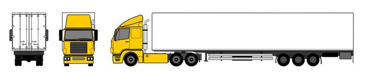 Semitrailer truck. A illustration of semitrailer truck Stock Photography