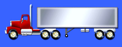 Semitrailer truck. Graphic of a semitrailer truck great for writing a message on vector illustration