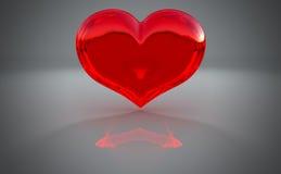 Free Semitransparent Heart Shape With Reflection Royalty Free Stock Photo - 15777955