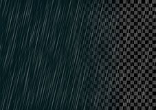 Semitransparent vector geïsoleerd regeneffect Stock Fotografie
