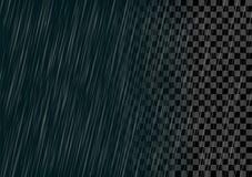 Semitransparent vector rain effect isolated. Stock Photography