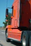 Semitruck on the freeway Stock Image