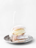 Semla, traditional Scandinavian cream bun Stock Images