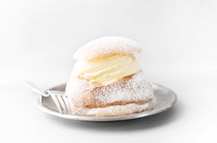 Semla, traditional Swedish pastry Stock Image