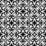 Semless黑色dezine白色后面地面 免版税库存照片