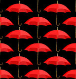 Semless A Background From Red Umbrellas Royalty Free Stock Images