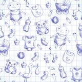 Semless baby background. royalty free illustration
