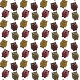 Semless background with owls on white Royalty Free Stock Photos