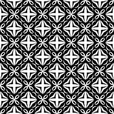 Semless Black dezine White Back ground. Triangles, abstract. Abstract geometric striped triangles seamless pattern in black and white, background Stock Photography