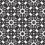 Vector Black White repeat Designs Stock Image